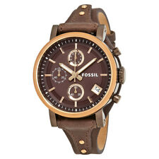 Fossil Original Boyfriend Chronograph Brown Dial Ladies Watch ES4286