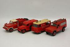 Solido 1/43 1/50 - Lot de 4 Feuerwehr Land Rover Peugeot Dodge