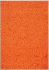 PREMIUM Solid Color Shag Area Rug Red Orange Grey Brown Green Beige Blue Shags