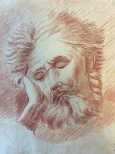 Agostino Carracci 1557 1602 (d'après) Sommeil du Titan sanguine XVIIIe ou XVIIe