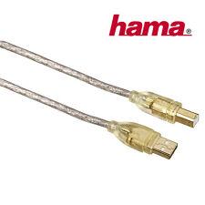 Hama USB Datenkabel Druckerkabel Scannerkabel USB-A-Stecker zu USB-B-Stecker 3 m