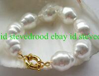 Rare Huge 20mm Baroque South Sea Shell Pearl Bracelet 7.5'' AAA++