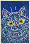 Louis Wain A Cat In Gothic Style Poster Reproduction Giclee Canvas Print