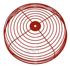 "FIRE ALARM BELL GUARD PROTECTOR WIRE CAGE RED 12"" Dia"
