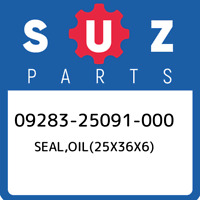 09283-25091-000 Suzuki Seal,oil(25x36x6) 0928325091000, New Genuine OEM Part
