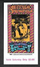 BUFFALO SPRINGFIELD Allman Brothers  Original Fillmore  Concert Ticket 1967