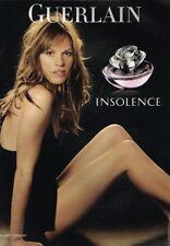 B- Publicité Advertising 2008 Parfum Insolence par Guerlain avec Hilary Swank