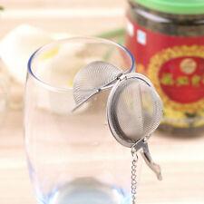 Stainless Steel Kettles Tea Sphere Egg Shape Ball Mesh Infuser Tea Strainer UK
