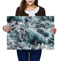 A2   Stormy Sea Sailing Water Waves - Size A2 Poster Print Photo Art Gift #8447