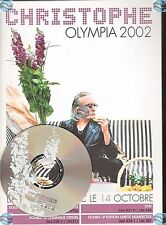 CHRISTOPHE BEVILACQUA OLYMPIA 2002 PLAN MEDIA PRESSKIT INCLUS CD SAMPLER