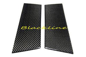03~08 350Z Z33 Real Carbon Fiber Door Trim Pillar Panel Cover Overlay Fit Nissan