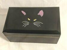 Vintage Otagiri Jewelry Music Box Black Lacquer