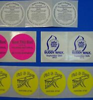 """Printed Circle Stickers, 1,000 Custom 3"""" Round Business Labels 1-Color ink, roll"""