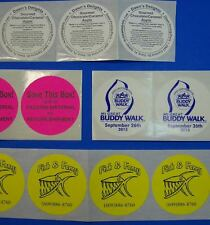 1000 Custom Printed 3 Round Business Stickers One Color On Choice Of Labels
