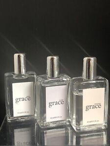 Lot of 3 Philosophy Amazing, Inner, & Pure Perfume 0.33Fl.oz/10ml Splash Bottles