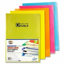 Premier Office Pkt.5 Bright Tang Double Layer Report Document Wallets x1