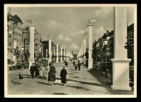 1937 Germany 3rd Reich Picture Postcard Hitler Berlin Boulevard stamp used RPPC