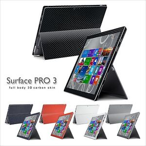 3D CARBON Fibre Skin Wrap Decal Sticker Protector for Microsoft Surface Pro 3