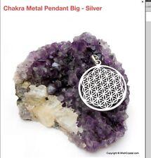 Reiki Energy Charged Chakra Metal Pendant Silver Uk