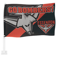 AFL ESSENDON BOMBERS CAR FLAG - Footy Fans Gift
