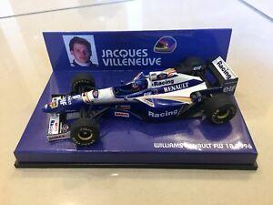 MINICHAMPS 1/43 JACQUES VILLENEUVE, WILLIAMS RENAULT FW18 1996 F1 CAR, 430960006