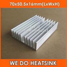 2pcs 70x50.5x16mm Aluminum Heat Sink For Amplifier Peltier Aquarium LED Light