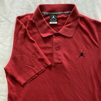 Vintage Air Jordan Jumpman Polo Shirt Size S Red Cotton/Polyester Blend