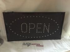 ".Led ""Open"" Store Flashing Neon Sign."