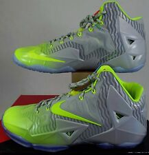 Mens SZ 11.5 NIKE Lebron XI Collection Luster Volt Ice Shoes $220 683252-074