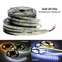 5M 5630 SMD waterproof 300 LED Light Strip Flexible Ribbon Tape lamp DC12V