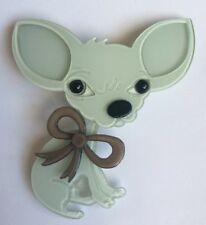 Fabulous Large Lucite Chihuahua Brooch Pin