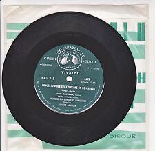 VIVALDI Vinyl 33T 17cm CONCERTO POUR 2 VIOLONS KAUFMAN RYBAR -GID 948 F Réduit