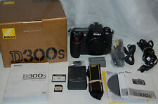 Nikon D300S 12.3 MP Digital SLR Camera -Black (Body Only) w/acc & box 11K Clicks