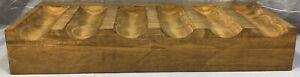 Pottery Barn 2' Vintage Spruce Rustic Wood Wine Bottle Shelf
