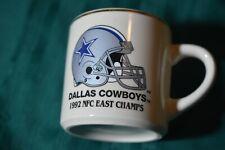 Vintage 1992 NFC East Champs Dallas Cowboys 12 oz Coffee Mug Cup
