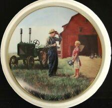 "Danbury Mint Farming The Heartland ""Daddy'S Little Helper"" 8"" Collector Plate"