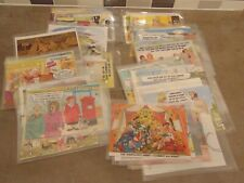 More details for vintage job lot comic postcards all in plastic covers total 50 mint condition