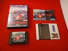 Super Monaco GP Sega Mega Drive (Genesis) COMPLETE w/ Box manual game GP POSTER!