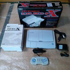 NEC PC Engine Duo RX Console Japan *MAIN UNIT NEAR MINT + GAMES - $50 OFF SALE*