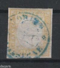 CE.152 - Italy Stamps, Stati Sardi, Sardegna, 1858, Sassone # 17Ab, certif.