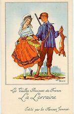 CARTE CHROMO PUB /JEAN DROIT / LES VIEILLES PROVINCES DE FRANCE / LA LORRAINE