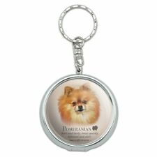 Pomeranian Dog Breed Portable Travel Purse Ashtray Keychain w/ Cigarette Holder