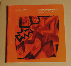 PAUL KLEE Drawings/Watercolours-Felix Klee collection 1963 Exhibition catalogue