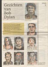 BOB DYLAN Face Value DUTCH NEWSPAPER Fundatie Zwolle Nederland