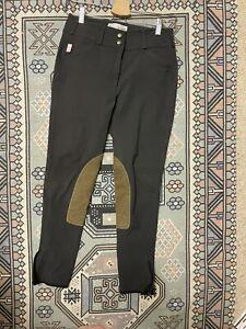 tailored sportsman 28 mid rise dark grey breeches