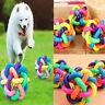 Pet Dog Puppy Dental Teething Healthy Teeth Chew Training Play Ball Toy Colorful
