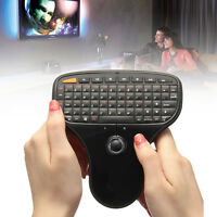 2.4GHz Mini Wireless Keyboard Track Ball Controls for PC Smart TV Android Box