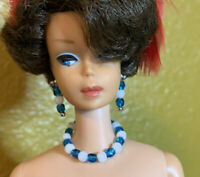 Jewelry Set for Vintage Barbie Doll/Accessories for Barbie Earrings & Necklace
