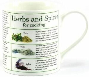Boxed Herbs & Spices Educational Mug Cooking Ingredients