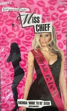 "Pink Diamante ""Hen Night"" Sash Fancy Dress ""Bride to Be"" Smiffys 30078 Fuchsia"